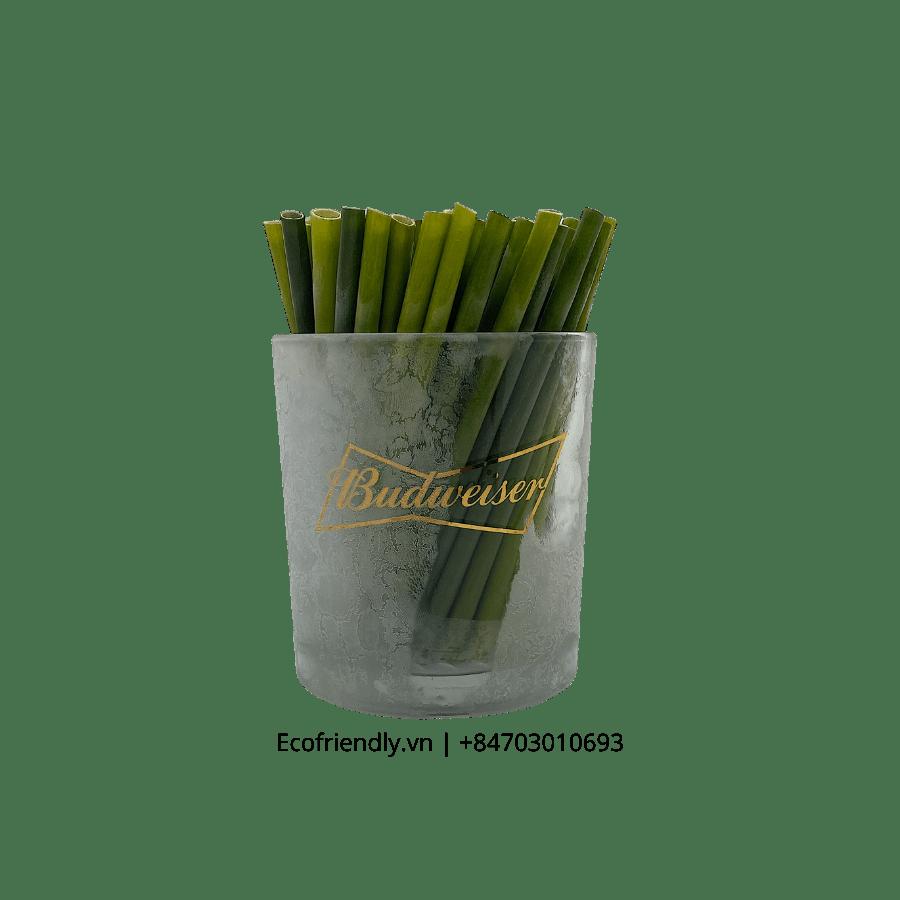 Ống hút cỏ giá rẻ loại ngắn 11 cm hộp 100 ống ecofriendly.vn