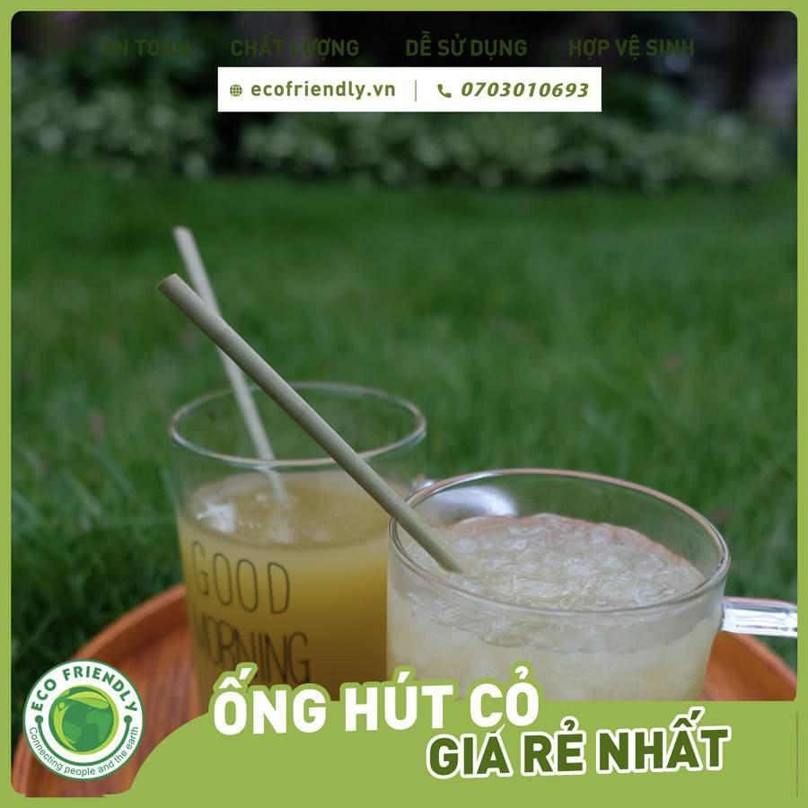 nhược điểm của ống hút cỏ bàng - Mùi cỏ tự nhiên của ống hút cỏ bàng Ảnh Ecofriendly.vn +84703010693